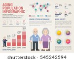 aging population infographic.... | Shutterstock .eps vector #545242594