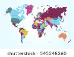 world map countries vector on... | Shutterstock .eps vector #545248360