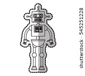 isolated robot cartoon design | Shutterstock .eps vector #545251228