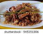 fried pork ribs with garlic  | Shutterstock . vector #545251306