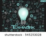 icon lamp business success... | Shutterstock .eps vector #545253028