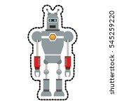 isolated robot cartoon design | Shutterstock .eps vector #545259220