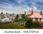 looking out over the cityscape... | Shutterstock . vector #545270914