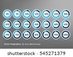 percentage vector infographics. ... | Shutterstock .eps vector #545271379