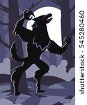 monster werewolf in the night... | Shutterstock .eps vector #545280460
