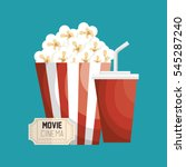pop corn with soda | Shutterstock .eps vector #545287240