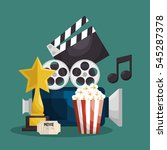 cinematographic entertainment... | Shutterstock .eps vector #545287378
