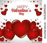 happy valentines day card | Shutterstock .eps vector #545289034