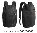 Black Backpack Isolated Over...