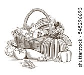 basket of vegetables | Shutterstock .eps vector #545296693