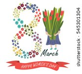 vector 'happy women's day'... | Shutterstock .eps vector #545301304