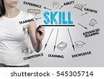 beautiful woman writing skill... | Shutterstock . vector #545305714