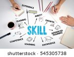 skill concept. the meeting at... | Shutterstock . vector #545305738