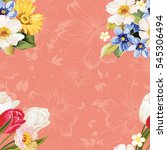 seamless floral pattern white... | Shutterstock .eps vector #545306494