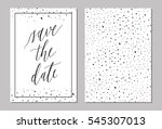 save the date wedding... | Shutterstock .eps vector #545307013