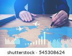 businessman  pointing on... | Shutterstock . vector #545308624
