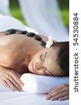 a woman relaxing at a health... | Shutterstock . vector #54530884