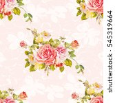 seamless floral pattern with... | Shutterstock .eps vector #545319664