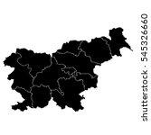 black map of slovenia