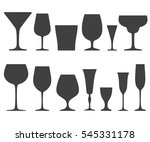 set of wine glasses icons... | Shutterstock . vector #545331178