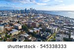 seattle  wa usa cityscape... | Shutterstock . vector #545338333