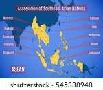 schematic map of the country... | Shutterstock .eps vector #545338948