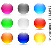 glass abstract shiny buttons.... | Shutterstock .eps vector #54533953