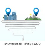 tablet gps application.gps... | Shutterstock .eps vector #545341270