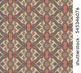 islamic arabic indian motif ... | Shutterstock . vector #545346076
