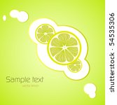 vector limon card | Shutterstock .eps vector #54535306