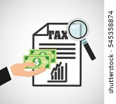 tax time flat line icons vector ... | Shutterstock .eps vector #545358874