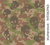 skull camouflage texture...   Shutterstock .eps vector #545362963