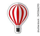 balloon air hot travel vector... | Shutterstock .eps vector #545366293
