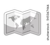 world map paper geography icon... | Shutterstock .eps vector #545367466