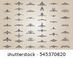 vintage decor elements and... | Shutterstock .eps vector #545370820