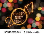 happy new year 2017 sparkles... | Shutterstock . vector #545372608