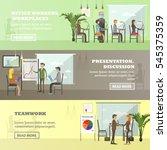 set of business presentations... | Shutterstock . vector #545375359