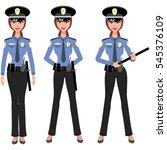 woman police | Shutterstock .eps vector #545376109
