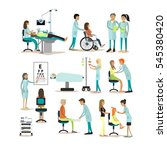 set of doctors and patients... | Shutterstock . vector #545380420