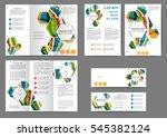 set of color brochure template... | Shutterstock .eps vector #545382124