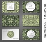 set of stylish business card... | Shutterstock .eps vector #545389240