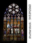 Stained Glass Interior Of...