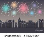 exploding colorful fireworks... | Shutterstock .eps vector #545394154