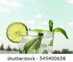 mojito in a glass on a... | Shutterstock . vector #545400658