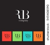 r   b  r b letters company logo ... | Shutterstock .eps vector #545408590