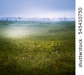 Small photo of A beautiful mire landscape in Finland - dreamy, foggy look