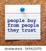 the words people buy from... | Shutterstock . vector #545412370