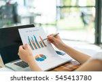 business people using laptop... | Shutterstock . vector #545413780