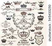 collection of crowns  labels ... | Shutterstock .eps vector #545433250