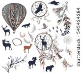 collection of vector dream... | Shutterstock .eps vector #545434384